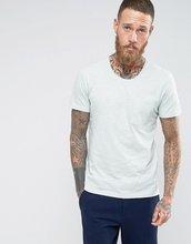 Selected Homme | Меланжевая трикотажная футболка с карманом Selected Homme - Синий | Clouty