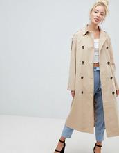 Fashion Union | Макинтош с поясом и контрастной подкладкой Fashion Union - Бежевый | Clouty