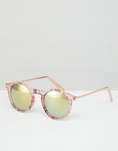 ASOS | Солнцезащитные очки в круглой розовой оправе с металлическими дужками | Clouty