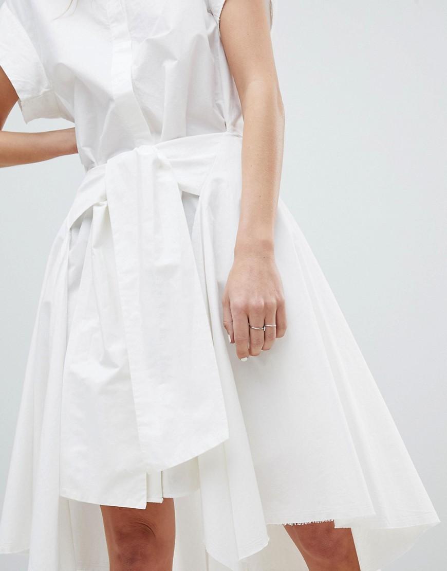 AllSaints | Платье-рубашка AllSaints - Белый | Clouty