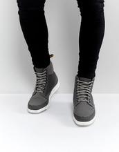 Dr. Martens | Ботинки с 8 парами люверсов Dr Martens Lite Rigal - Серый | Clouty