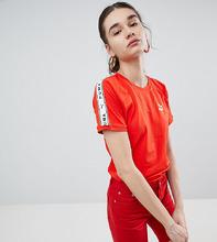 Puma | Красная футболка с лентой на рукавах Puma эксклюзивно для ASOS | Clouty