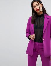 Y.A.S. | Приталенный узкий блейзер Y.A.S - Фиолетовый | Clouty