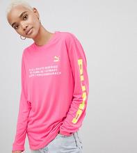 Puma | Розовый лонгслив с логотипом Puma эксклюзивно для ASOS - Розовый | Clouty