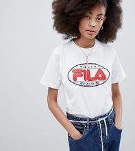 FILA | Футболка бойфренда с логотипом в стиле 90-х Fila - Белый | Clouty