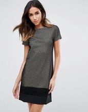 Vesper   Платье металлик с контрастной нижней частью Vesper - Золотой   Clouty