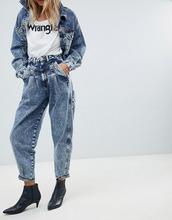 Wrangler   Выбеленные джинсы в винтажном стиле Wrangler - Синий   Clouty
