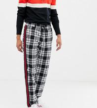 Collusion | Расклешенные брюки в клетку с полосками по бокам COLLUSION Tall - Черный | Clouty