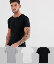 TOMMY HILFIGER | Набор из 3 классических эластичных футболок с круглым вырезом Tommy Hilfiger - Мульти | Clouty