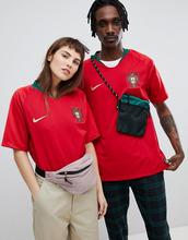 NIKE | Бордовая футболка Nike Football Portugal home stadium 893877-687 - Красный | Clouty