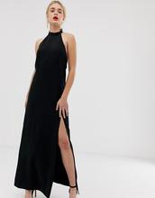 stradivarius | Платье с высоким воротом Stradivarius - Черный | Clouty