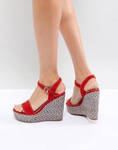 ALDO | Красные туфли на танкетке с фактурным каблуком ALDO - Красный | Clouty