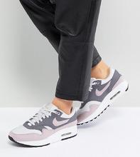 NIKE   Розово-серые премиум-кроссовки Nike Air Max 1 - Розовый   Clouty