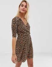 ASOS | Платье мини с леопардовым принтом и пуговицами ASOS DESIGN - Мульти | Clouty