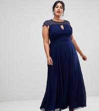 Little Mistress | Темно-синее платье макси Little Mistress Plus - Темно-синий | Clouty