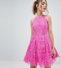 ASOS | Кружевное платье для выпускного мини ASOS DESIGN Petite - Розовый | Clouty