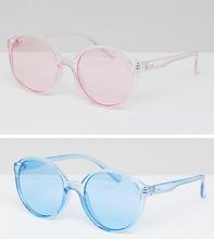 ASOS | 2 пластиковых круглых солнцезащитных очков с цветными стеклами ASOS | Clouty