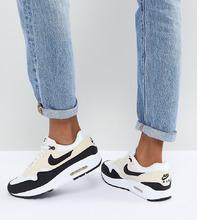 NIKE | Черные кроссовки со вставками кремового цвета Nike Air Max 1 Premium | Clouty