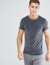 Selected Homme | Велюровая футболка Selected Homme - Серый | Clouty