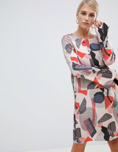 Vila | Платье с геометрическим принтом Vila - Мульти | Clouty