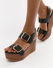 ASOS | Кожаные туфли на платформе ASOS DESIGN Tori Premium - Черный | Clouty