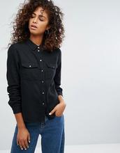 Noisy May | Джинсовая рубашка Noisy May - Черный | Clouty