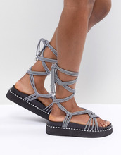 ASOS | Массивные сандалии ASOS DESIGN Fighting Talk - Черный | Clouty