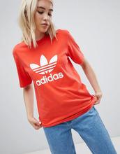 adidas Originals | Красная футболка с логотипом-трилистником Adidas Originals - Красный | Clouty