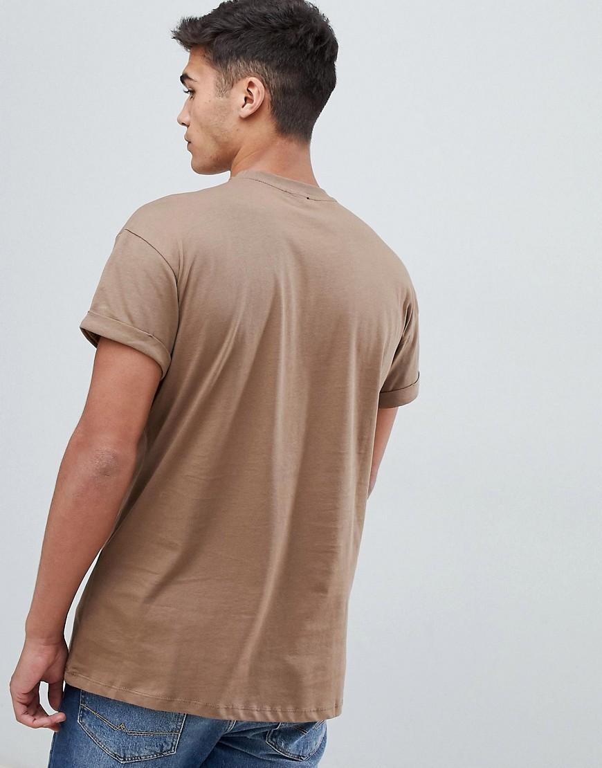 New Look | Бежевая футболка с вышитой пантерой New Look - Розовый | Clouty
