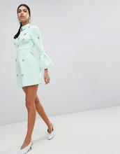 ASOS | Платье мини А-силуэта с отделкой ASOS DESIGN - Зеленый | Clouty