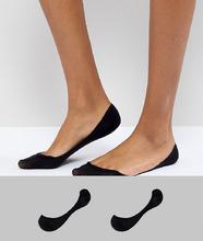ASOS | 2 пары невидимых носков ASOS DESIGN - Черный | Clouty