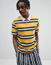 ASOS   Желтая свободная футболка-поло в полоску в стиле ретро ASOS - Желтый   Clouty