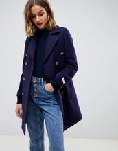 Gianni Feraud | Пальто в стиле милитари Gianni Feraud - Темно-синий | Clouty