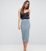ASOS | Удлиненная юбка-карандаш с завышенной талией ASOS TALL - Серый | Clouty