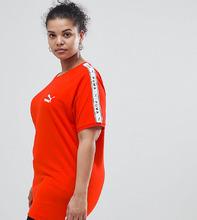 Puma | Красная футболка с лентой на рукавах Puma эксклюзивно для ASOS Plus | Clouty