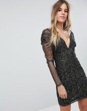 Boohoo | Сетчатое платье с глубоким вырезом Boohoo - Мульти | Clouty