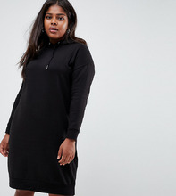 New Look | Платье-худи New Look Plus - Черный | Clouty