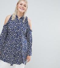 Koko | Рубашка с принтом пейсли и вырезами на плечах Koko - Мульти | Clouty