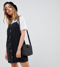 ASOS | Черное джинсовое платье-комбинация ASOS DESIGN Petite - Черный | Clouty