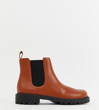 Monki   Светло-коричневые ботинки челси из искусственной кожи Monki - Оранжевый   Clouty