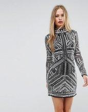 ASOS | Облегающее сетчатое платье мини ASOS - Мульти | Clouty