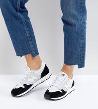 New Balance | Бело-черные замшевые кроссовки колор блок New Balance 520 - Белый | Clouty