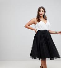ASOS | Платье миди для выпускного с юбкой из тюля и ленточными завязками ASOS | Clouty