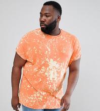 ASOS | Оранжевая выбеленная oversize-футболка ASOS DESIGN Plus - Оранжевый | Clouty