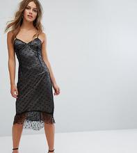 Boohoo | Облегающее платье с сетчатой накладкой и звездным принтом Boohoo Petit | Clouty