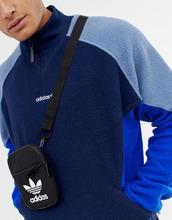 adidas Originals   Черная сумка с логотипом-трилистником adidas Originals BK6730 - Черный   Clouty