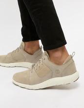 Timberland | Светло-бежевые замшевые кроссовки Timberland Flyroam - Светло-бежевый | Clouty