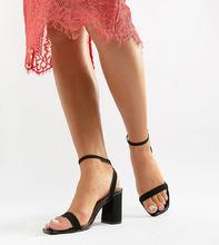 ASOS | Легкие босоножки для широкой стопы на блочном каблуке ASOS DESIGN Hong | Clouty