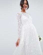 ASOS | Платье с декоративной отделкой и вышивкой ASOS EDITION - Белый | Clouty