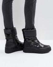Calvin Klein | Черные стеганые ботинки Calvin Klein Jeans Leonie - Черный | Clouty